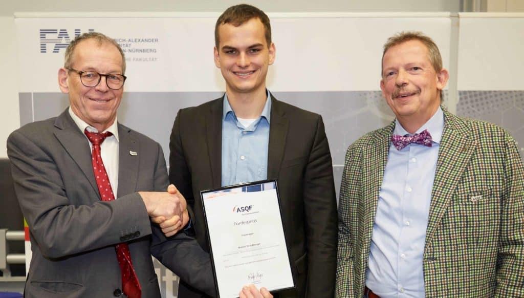 Förderpreis an der FAU Erlangen-Nürnberg für Masterarbeit vergeben